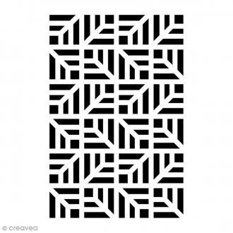 Pochoir Home Deco - Fond géométrique - 10 x 15 cm