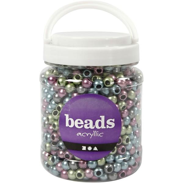 Perles pony 10 mm - Assortiment de couleurs métalliques - 1000 pcs environ - Photo n°2