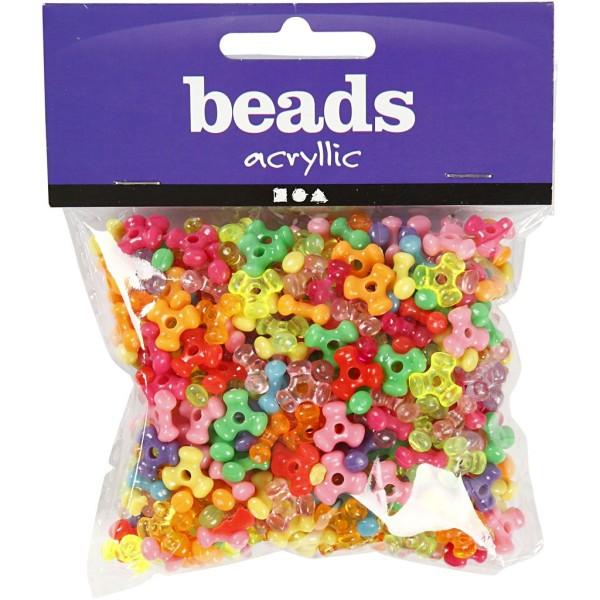 Assortiment de perles en plastique multicolore - 10 mm - Environ 200 pcs - Photo n°2