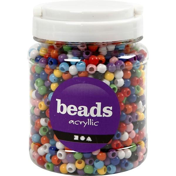 Perles pony 8 mm - Assortiment de couleurs - 2280 pcs environ - Photo n°2