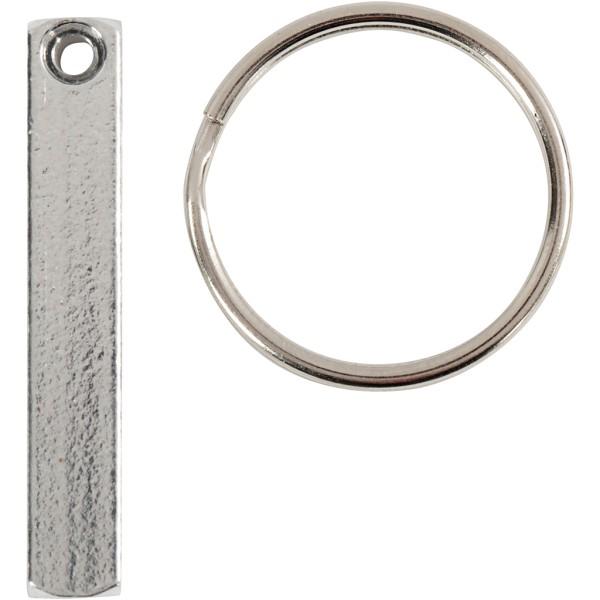 Porte-clé à graver en métal - 6 pcs - Photo n°1