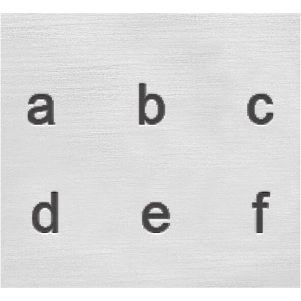 Set tampons Alphabet minuscule pour gravure sur métal - Helvetica - 27 pcs - Photo n°3
