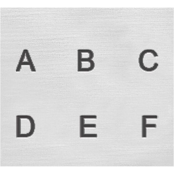 Set tampons Alphabet majuscule pour gravure sur métal - Helvetica - 27 pcs - Photo n°3