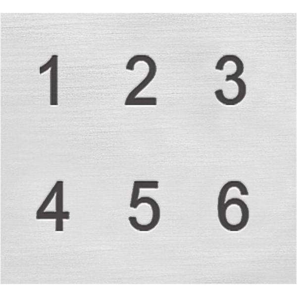 Set tampons Chiffres pour gravure sur métal - Helvetica - 9 pcs - Photo n°3