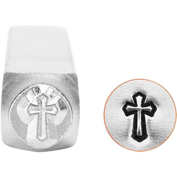 Tampon poinçon pour gravure métal - Croix - 6 mm - Photo n°1