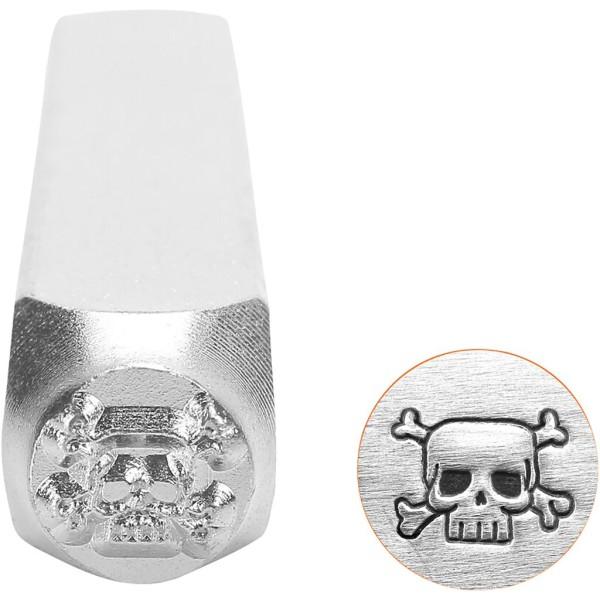 Tampon poinçon pour gravure métal - Crâne - 6 mm - Photo n°1