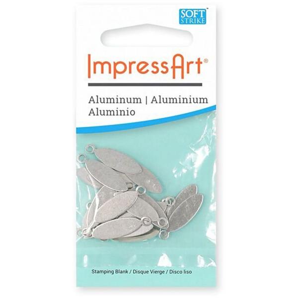 Plaque métallique en aluminium - Ovale - 20 x 5 mm - 20 pcs - Photo n°2