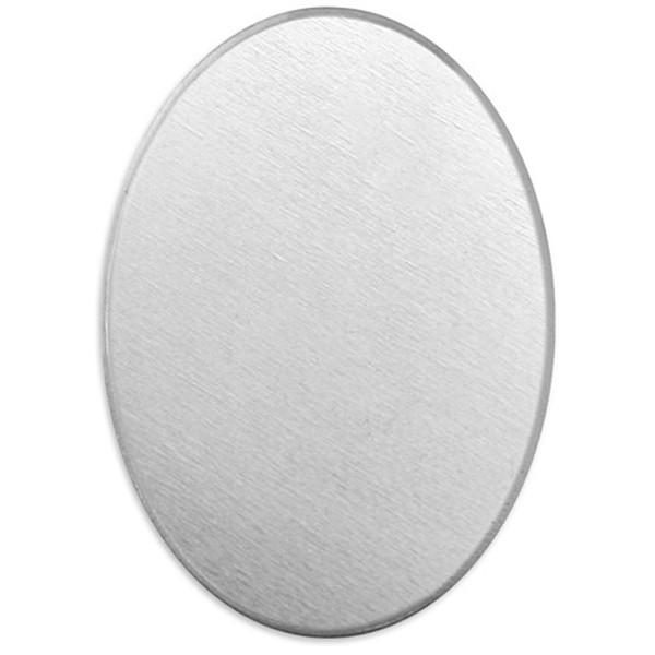 Plaque métallique en aluminium - Ovale - 28 x 13 mm - 15 pcs - Photo n°1