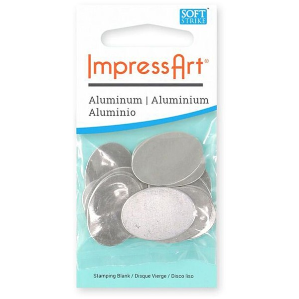 Plaque métallique en aluminium - Ovale - 25 x 18 mm - 15 pcs - Photo n°2