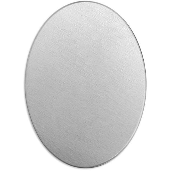 Plaque métallique en aluminium - Ovale - 25 x 18 mm - 15 pcs - Photo n°1