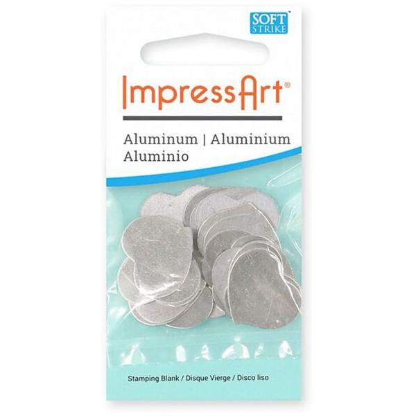 Plaque métallique en aluminium - Coeur - 20 x 20 mm - 15 pcs - Photo n°2
