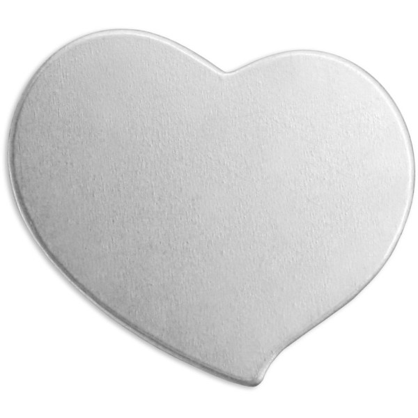 Plaque métallique en aluminium - Coeur - 20 x 20 mm - 15 pcs - Photo n°1