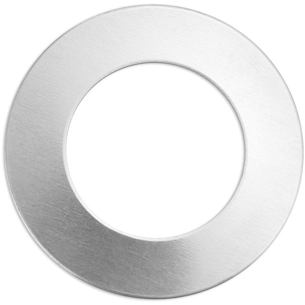 Plaque métallique en aluminium - Anneau - 32 mm - 9 pcs - Photo n°1