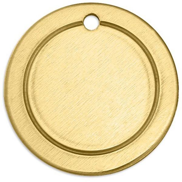Plaque métallique en laiton - Anneau - 20 mm - 6 pcs - Photo n°1