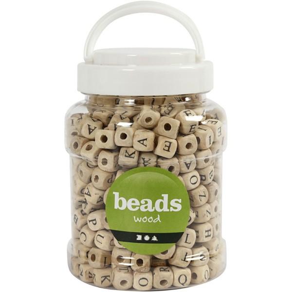 Perles alphabet en bois - 9 mm - Environ 400 pcs - Photo n°2