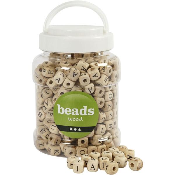 Perles alphabet en bois - 9 mm - Environ 400 pcs - Photo n°1
