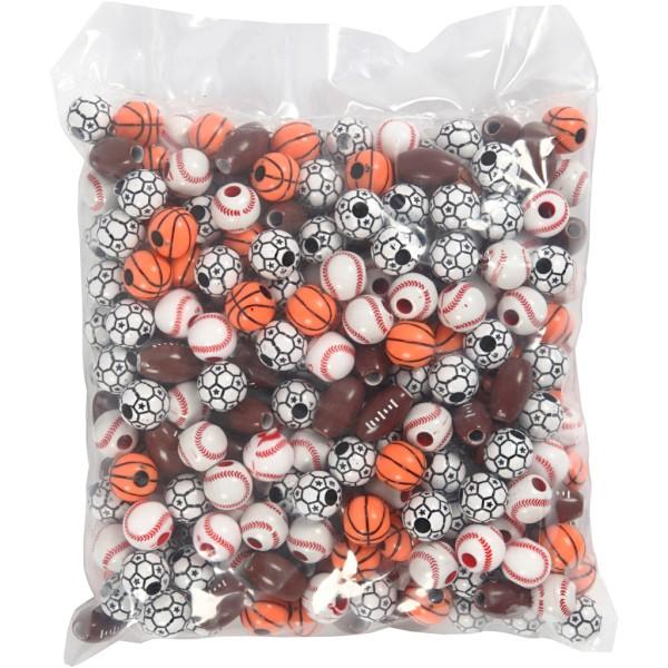 Perles Ballons de sport - De 11 à 15 mm - Environ 220 pcs - Photo n°2