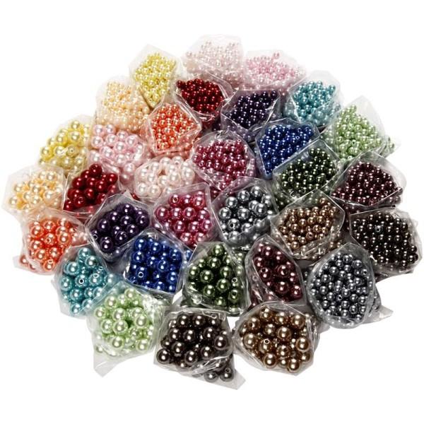 Perles De Cire - Assortiment, Diamètre Intérieur 1,5-2 Mm, Sans Valisette, 32X20Gr - Photo n°1
