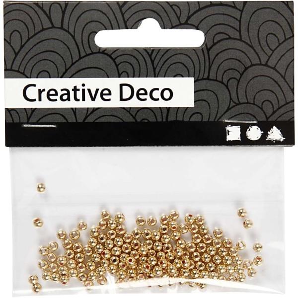 Perles de décoration 2,7 mm - Doré - 150 pcs - Photo n°2