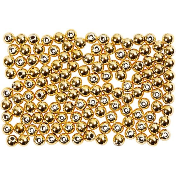 Perles de décoration 2,7 mm - Doré - 150 pcs - Photo n°1