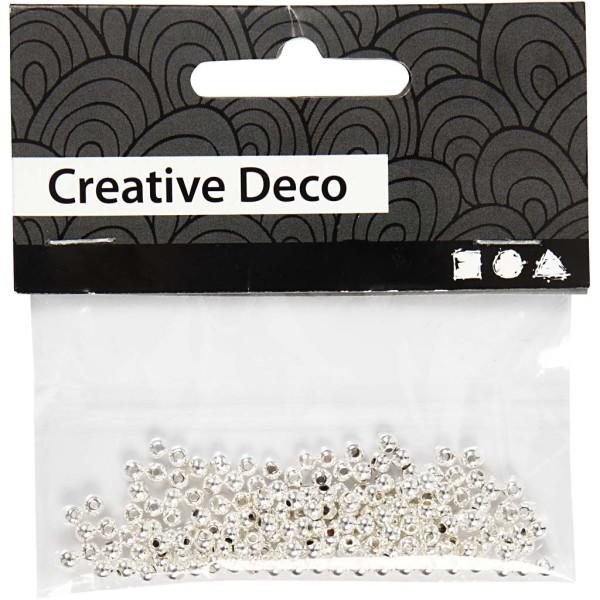Perles de décoration 3 mm - Argenté - 150 pcs - Photo n°2