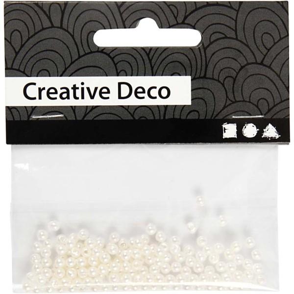 Perles de décoration 3 mm - Nacré - 150 pcs - Photo n°2
