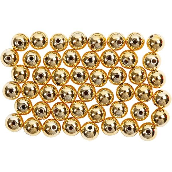 Perles de décoration 5 mm - Doré - 100 pcs - Photo n°1