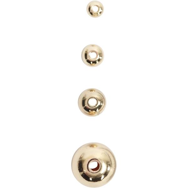 Perles de décoration 8 mm - Doré - 50 pcs - Photo n°3