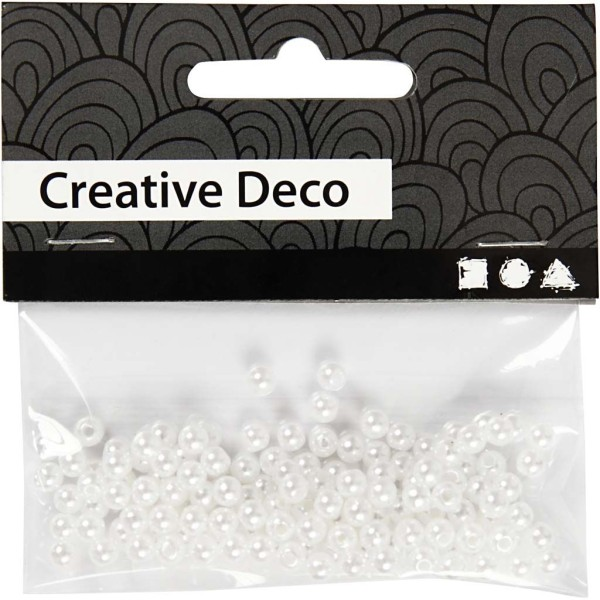 Perles de décoration 4 mm - Nacré - 150 pcs - Photo n°2