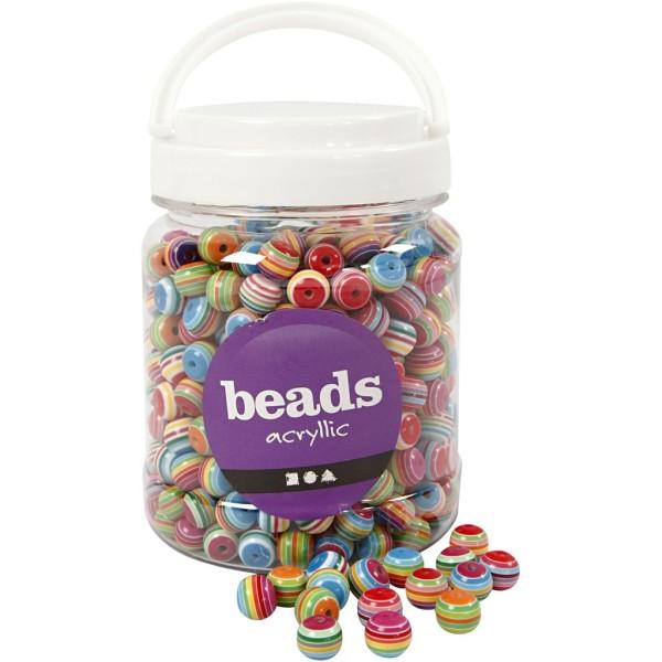 Assortiment de perles 12 mm - Environ 530 pcs - Photo n°1