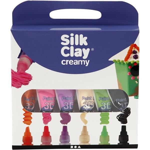 Lot Pâte à modeler liquide Silk Clay Creamy - Couleurs néon - 6 x 35 ml - Photo n°2