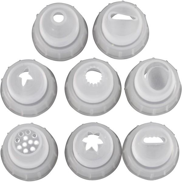 Set de douilles plastique pour Silk Clay Creamy - 8 pcs - Photo n°1