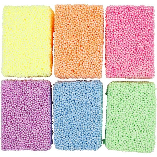 Pains de pâte à modeler Soft Foam - Couleurs Assorties - 6 x 10 g - Photo n°1