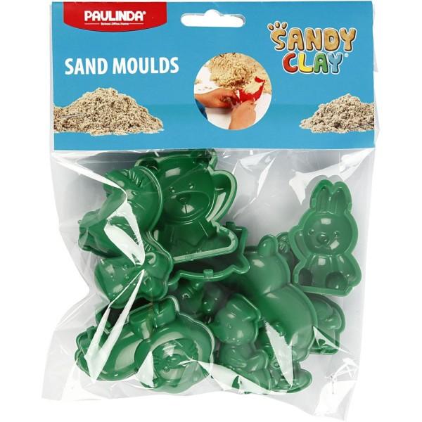 Moules Sable à modeler Sandy Clay - Animaux - 10 pcs - Photo n°2