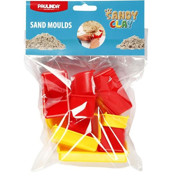 Moules Sable à modeler Sandy Clay - Formes géométriques - 12 pcs - Photo n°2