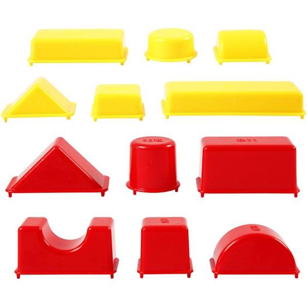 Moules Sable à modeler Sandy Clay - Formes géométriques - 12 pcs - Photo n°1