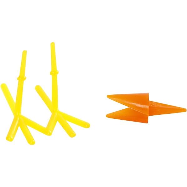 Bec et pattes de poule en plastique pour pâte à modeler - 3 cm - 24 pcs - Photo n°1