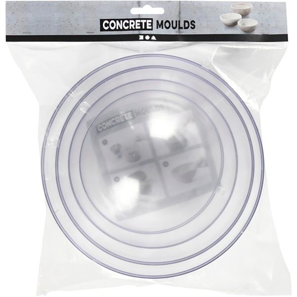 Moules demi sphère pour béton créatif - 13.6 à 20 cm - 4 pcs - Photo n°2