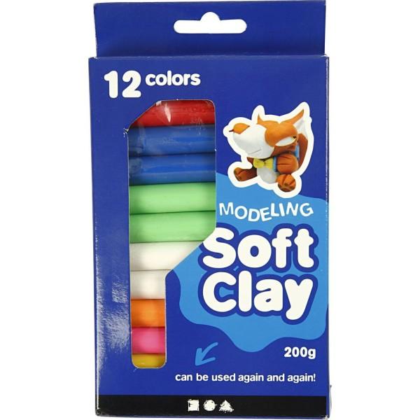 Assortiment de pâte à modeler douce Soft Clay - 8 x 25 gr - Photo n°2