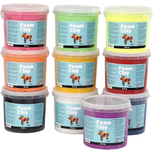 Foam Clay® , Couleurs Assorties, 10X560Gr - Photo n°1