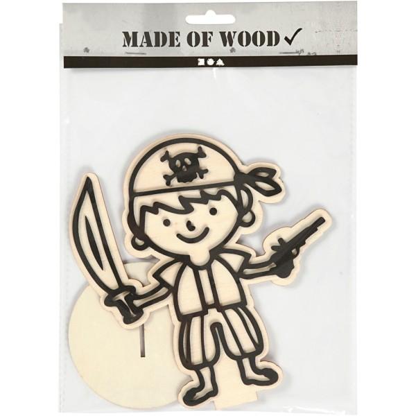 Forme en bois et mousse Moussaillon à décorer - 17 cm - Photo n°2