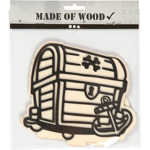 Forme en bois et mousse Coffre à décorer - 13,5 à 18 cm - Photo n°2