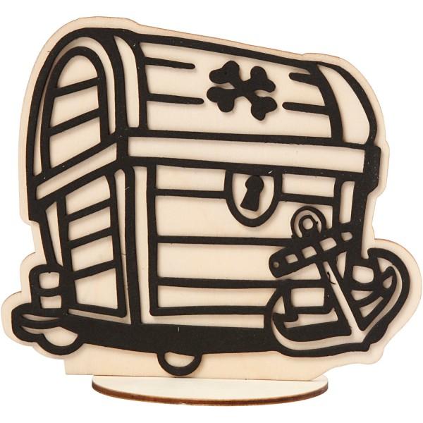 Forme en bois et mousse Coffre à décorer - 13,5 à 18 cm - Photo n°1