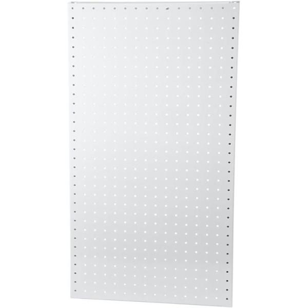 Plaque Arrière Perforée, H: 850 Mm, L: 400 Mm, Blanc, 1Pièce - Photo n°1