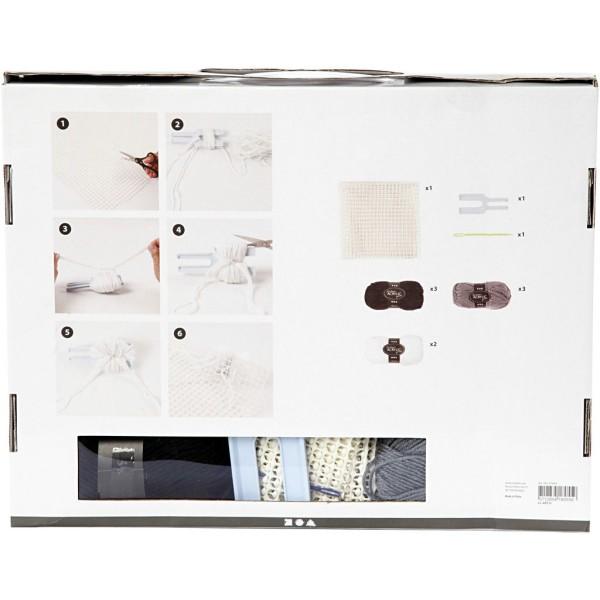 Kit DIY - Tapis pompons - Gris - 1 pce - Photo n°3