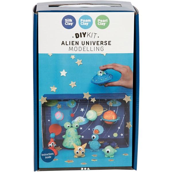 Kit activité enfant - Modelage Pearl Clay - Planètes et extraterrestres - Photo n°2