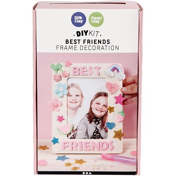 Kit activité enfant - Modelage Silk Clay et Pearl Clay - Décoration de cadre - Photo n°2