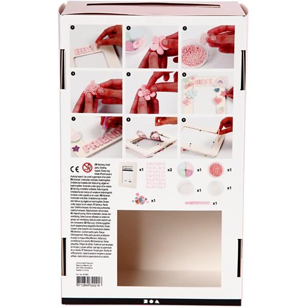 Kit activité enfant - Modelage Silk Clay et Pearl Clay - Décoration de cadre - Photo n°3