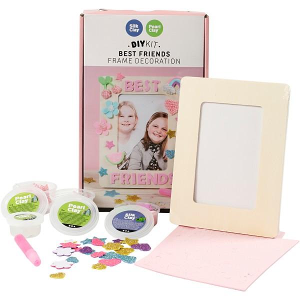 Kit activité enfant - Modelage Silk Clay et Pearl Clay - Décoration de cadre - Photo n°1