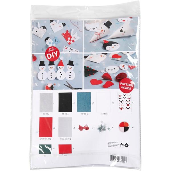 Kit de décoration en papier - Bonhomme de neige - Photo n°2